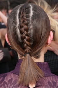 back braided ponytail