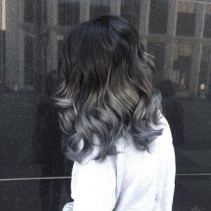 blue grey curls