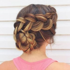 dutch braided spiral bun