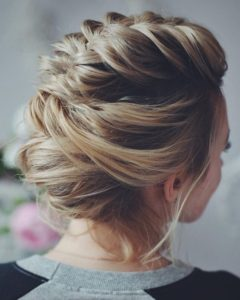 french braid mohawk updo