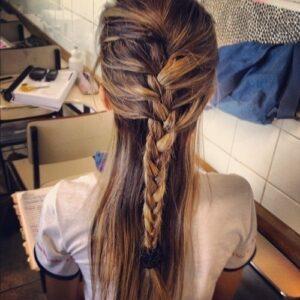 half up french braid