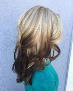 high contrast brown ombre