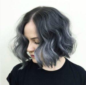 lavender grey bob