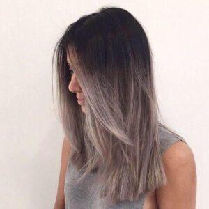 lilac grey ombre