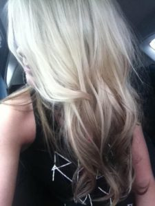 reverse brown ombre