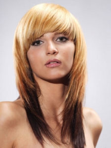 reverse brown ombre shag