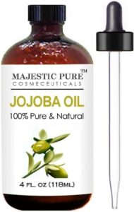 Majestic Pure Jojoba Oil for Hair Skin and Carrier