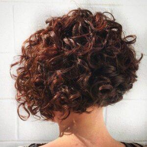 curly layered bob