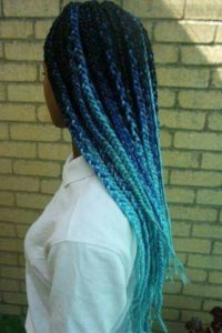 Aqua Ombre Box Braids