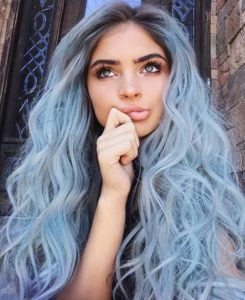 Baby Blue Rapunzel Hair