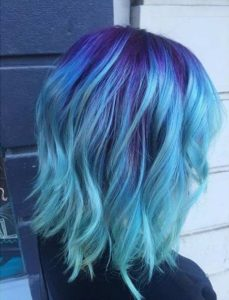 Blue On Blue Balayage