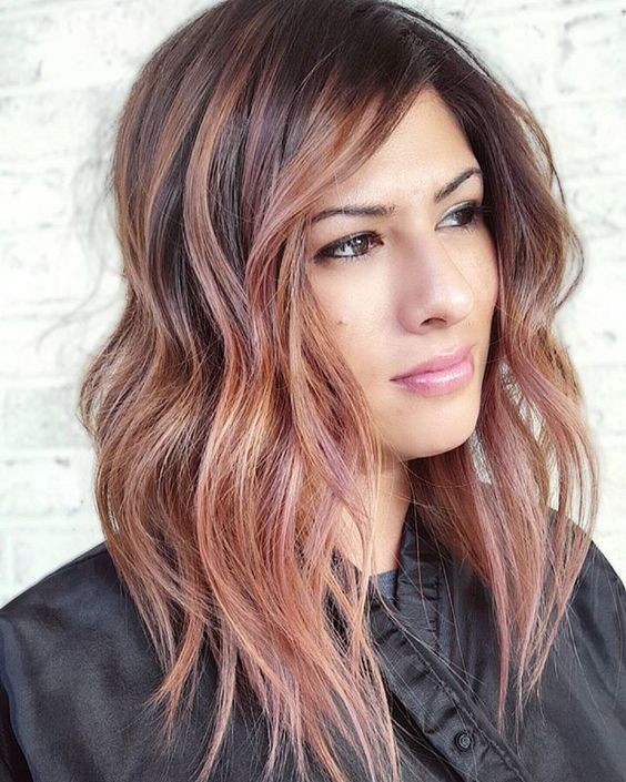 35 Sparkling Brilliant Rose Gold Hair Color Ideas Part 9