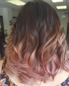 Blush Rose Gold Ombre