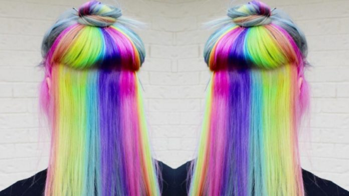 Crazy Rainbow Hair Color Inspirations