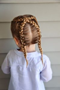 Criss Cross French Braids