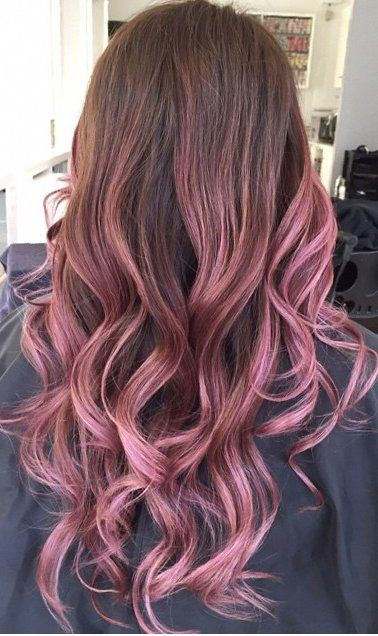 This Dusty Berry Shade Flirts With The Line Between Purple And Pink Making For A Delicious Balayage Blend Of Colors That Plays Well When Paired