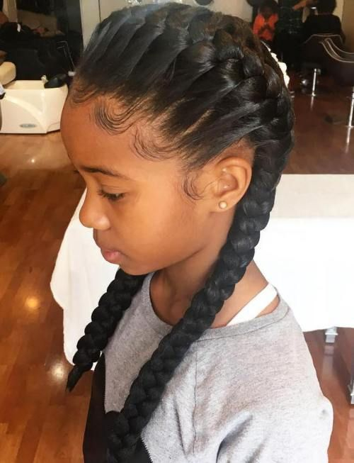 A Classic Example Of Braids For Kids These French Braided Pigtails Are Also Hugely Trendy Among Adult Women Right Now If Your Little Girls Have Been
