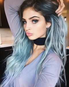 Light Blue High Ombre