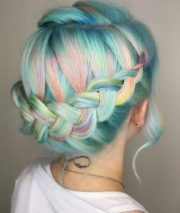 Light Blue Pastel Rainbow