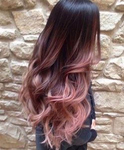 Long Blush Rose Balayage