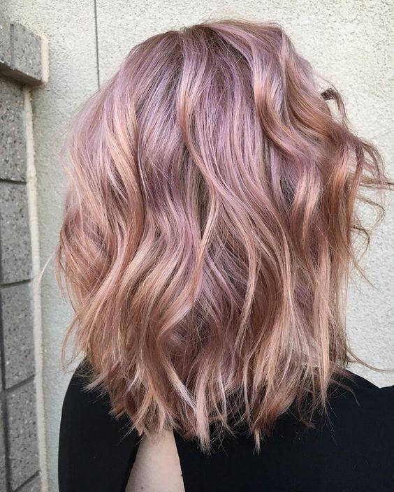 35 Sparkling Brilliant Rose Gold Hair Color Ideas