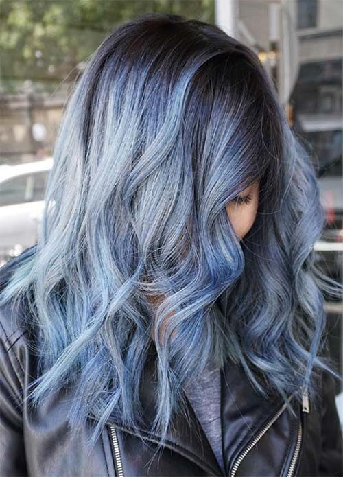 Blue Hair 30 Brand New Bangin Blue Hair Color Ideas