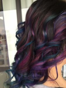 Oil slick balayage
