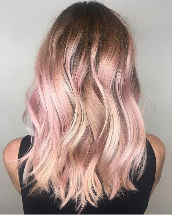 35 Sparkling Brilliant Rose Gold Hair Color Ideas