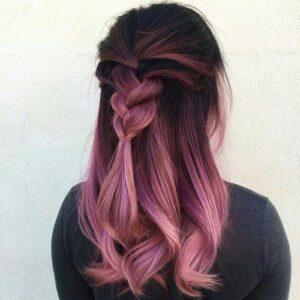 Purple Pink Sherbet Balayage