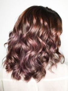 Raspberry Rose Gold Highlights
