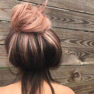 Rose Gold melt hair