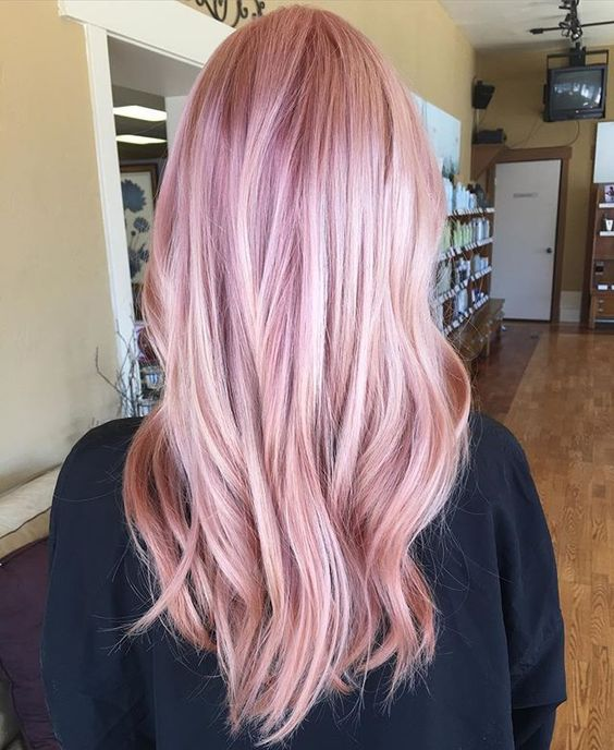 35 Sparkling Amp Brilliant Rose Gold Hair Color Ideas Part 6