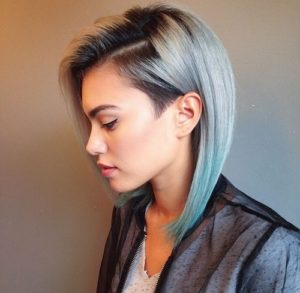 Sleek Blue Grey Lob