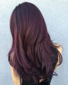 Soft maroon highlights