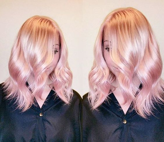 35 Sparkling Amp Brilliant Rose Gold Hair Color Ideas Part 25