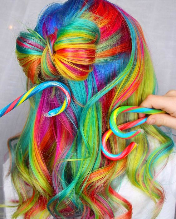 Rainbow Hair: 30 Crazy Rainbow Hair Color Inspirations