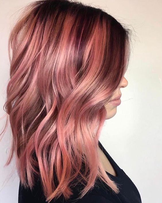 35 Sparkling Amp Brilliant Rose Gold Hair Color Ideas