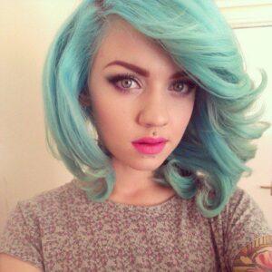 aqua blue pastel