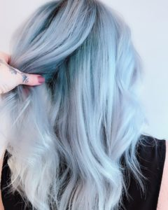 baby blue silver color melt