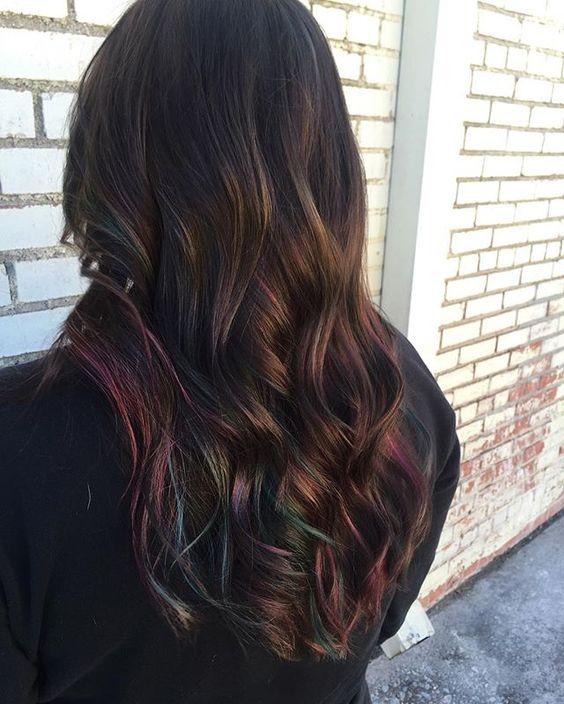 Oil Slick Hair The Epic New Rainbow Hair Technique Part 2