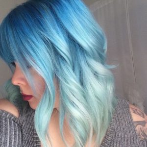 blue color melt