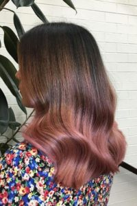 brunette rose gold color melt