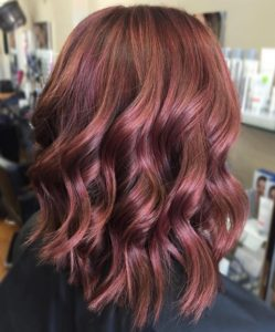 coppery maroon color blend