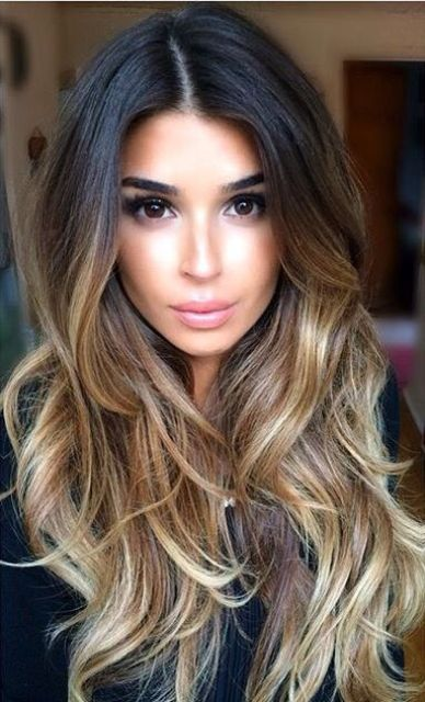 35 rich and sultry dark brown hair color ideas 8dark brown to blonde ombre solutioingenieria Gallery