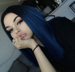 deep blue hair color