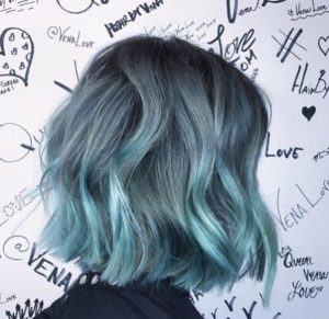 denim aqua hair