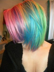 layered rainbow colors