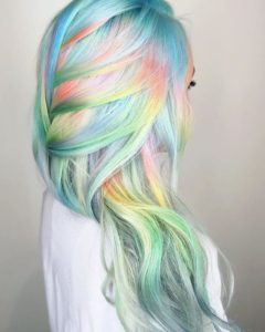 mermaid pastel rainbow