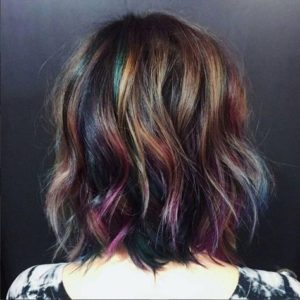natural brunette oil slick