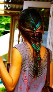 oil slick fishtail braid
